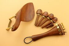 1 set new rose wood violin parts 4/4, chinrest, pegs, tailpiece, endpin