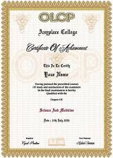 Diploma Certificate  A4 ( Novelty )