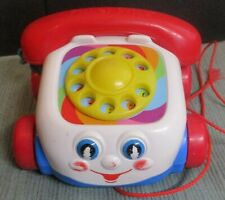 Vintage Fisher Price baby toddler pull toy play phone telephone Mattel 2000