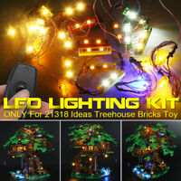 LED Lighting Kit ONLY For LEGO 21318 Ideas Treehouse Bricks Toy W/Remote  θ