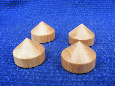 4 Oak cone isolation feet 38mm dia  for Hi Fi  / stereo