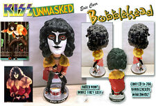 KISS, ERIC CARR, UNMASKED BOBBLEHEAD, HANDCRAFTED, GENE SIMMONS!