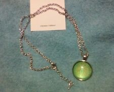 Green NATURE GODDESS Celtic Knot Image Glass Dome Necklace Pendant Wicca Pagan