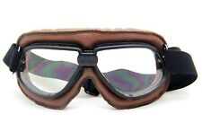 Aviator Motorcycle&Bicycle Scooter ATV Goggles Eyewear Tactical Goggle Brown
