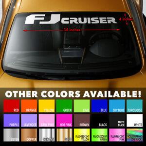 Premium Windshield Banner Vinyl Decal Sticker for TOYOTA FJ CRUISER TRD