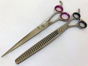 "8.5"" Gift set pets Grooming Scissor thinning shear Chunkers dog cat scissor"
