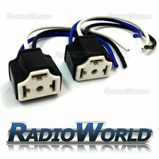 2x Ceramic H4 3 Pin Bulb Holder Headlight Wire Wiring Repair Plug Block Pair
