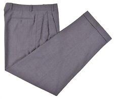 Zanella Duncan Made In ITALY Gray Woven Twill Stripe Wool Dress Pants 32