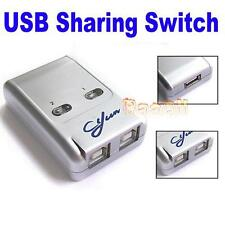 2 Ports USB 2.0 Auto Sharing Switch HUB Selector Switcher for Printer WS