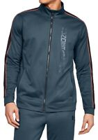 Under Armour Mens Unstoppable Track Jacket Slate Blue Sz Small S Logo $60 246