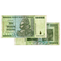 10 Trillion Zimbabwe Banknotes 2008 AA Series CIRCULATED