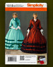 Civil War Southern Belle Dress Sewing Pattern (Sizes 8-14) Simplicity 1818~OOP