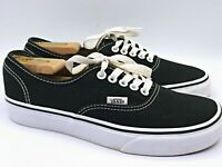 VANS Lo Classic Black Canvas Lace Up Low Top Skate Shoes Mens Size 7, Womens 8.5