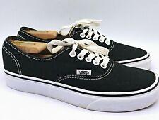 VANS Lo Classic Black Canvas Lace Up Low Top Skate Shoes Mens Size 7, Womens 8.5