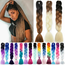 Jumbo Braiding Hair Synthetic Ombre Kanekalon Braids 24'' Crochet Extensions US