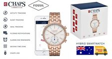 CHAPS by Fossil Hybrid SmartWatch Activity Fitness Tracker Rose Gold Steel Watch