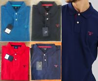 GANT Men's 01 Contrast Collar Pique SS Rugger, Short Sleeve Polo Shirt, Spandex