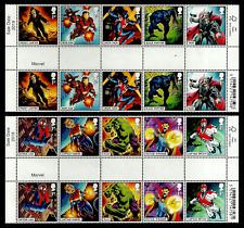 GB 2019 MARVEL COMICS SUPER HEROES SPIDER-MAN HULK THOR GUTTER PAIRS SET MNH