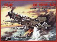 ICM 48104 German fighter Messerchmitt Bf 109F-4 1/48 plastic model kit 188 mm