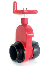 2 12 Nst Fire Hydrant Gate Valve 175psi Speed Handle Red Aluminum F Swivel X M