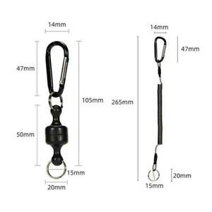 Keychain String Cord Multi Tool Quick Release Clips Magnetic P4Y2 Fishing A1L8
