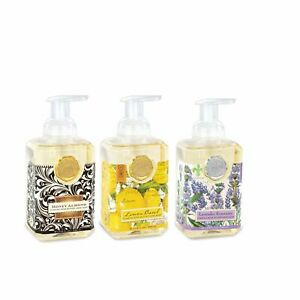 3 x Foaming Hand Soap SET Lemon Basil/Lavender/Honey Almond by Michel Design Wor