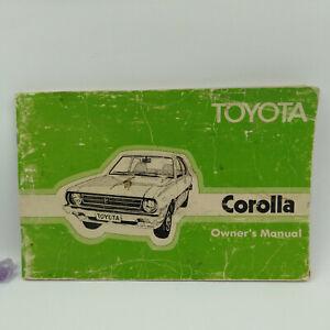 1978 Toyota Corolla Car Owners Manual, Australia Maintenance Vintage Book