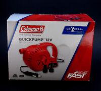 Coleman QuickPump 12V Pump / Camping Air Mattresses Inflatable-Hiking-Pool-NEW