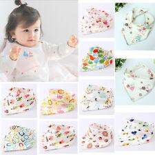 Cotton Infant Baby Unisex Bibs Feeding Saliva Towel Triangle Dribble Bandana TOP
