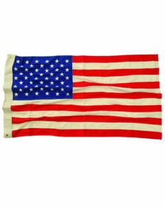 Vintage USA Flagge gestickt 50 Sterne 90x150cm 50 Stars Flag Hot Rod Rockabilly