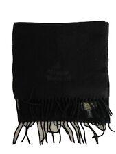 Vivienne Westwood Black Wool Scarf Black