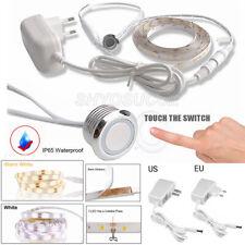 Waterproof Dimmable Touch Sensor LED Lights Strip Under Kitchen Wardrobe Cabinet