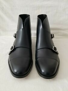 DSQUARED2 Men's Monk Strap BlackAnkle Boots Us Size 44, UK Size 10, EURO Size 44
