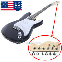 US 6 Strings Electric Guitar Solid Wood Rosewood Body Fingerboard Sound Practice