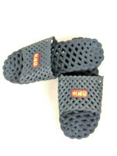 Asian Style Women Sandals Size 8 Silicone Mesh Blue Beach Or Boardwalk