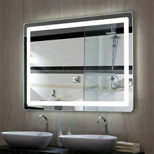 Smart Bathroom Mirror Anti Fog Wall Mirror with Led Bright Light 30s Memorize Us