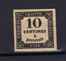 TAXE n°2A 10c NOIR II  NEUF** TIPO  1859 GOMME sans charniere NO clair RARE 750€