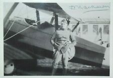 Donald MacLaren WW I Canadian Ace 54 Victories Royal Flying Corps Signed Photo