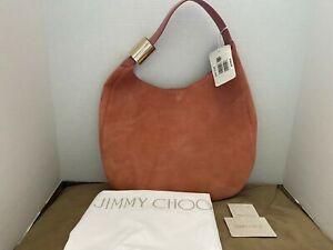 Auth Jimmy Choo Stevie Hobo Shoulder Bag Rosewood