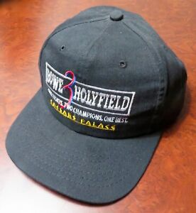 RIDDICK BOWE v EVANDER HOLYFIELD 3 Snap Back HAT 11/4/95 New NEVER WORN Official