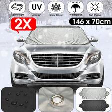 2X Windshield Car Screen Cover Protector Anti Ice Snow Rain Sun Dust  ^^