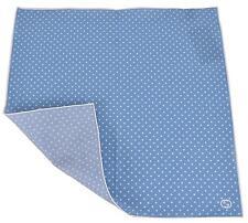 New Gucci 314255 Blue and White Voile Cotton GG Handkerchief Square Scarf