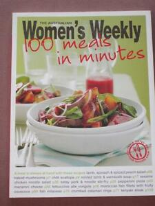 WOMENS WEEKLY COOKBOOK COOKING RECIPE CHEF, 100 MEALS IN MINUTES  FAST AND EASY