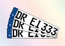 3 Stück KFZ Kennzeichen 52cm x 11cm Autoschilder Nummernschilder Schilder
