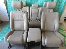11 12 13 TOYOTA TUNDRA DRIVER PASSENGER FRONT REAR LEATHER SEAT SET W/ CONSOLE