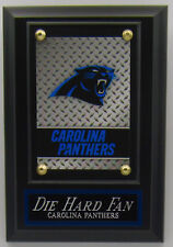 Die Hard Fan Carolina Panthers Card Wall Plaque For Your Man Cave