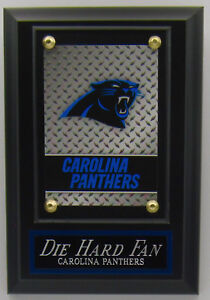DIE HARD FAN CAROLINA PANTHERS LOGO CARD PLAQUE FOR YOUR MAN CAVE WALL DECOR