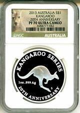 2013 S$1 Australia Kangaroo 20th Anniversary NGC PF70 Ultra Cameo