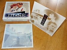 TITANIC movie memorabilia box set VHS video tape 35mm film cell collector cards
