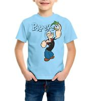 Popeye Strong Spinach Funny Boys, Kids Quality T-shirt Short Sleeve Top